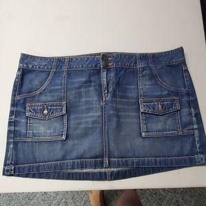 Old navy denim mini skirt size 20